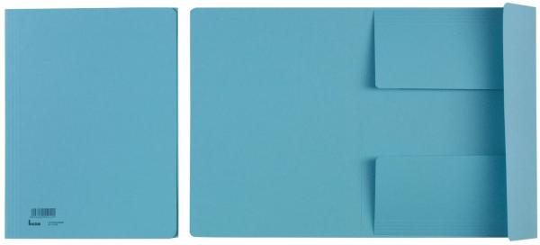 drei blau